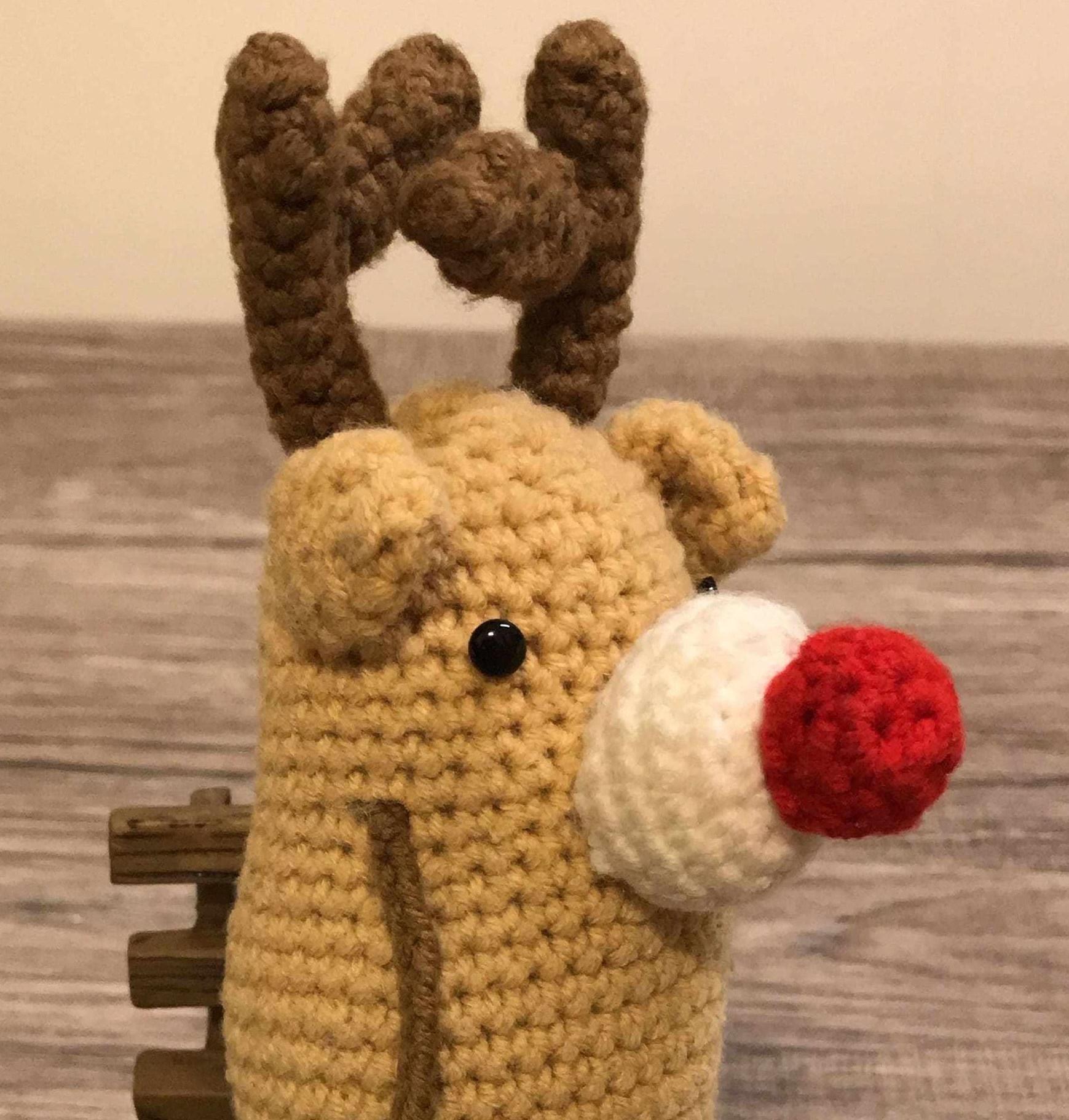 鉤針麋鹿 crochet reindeer